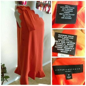 Victoria Beckham for Target Dresses - Orange Half Shoulder Dress (Victoria Beckham)